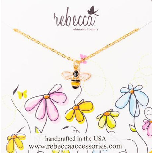 BUMBLE BEE ENAMEL NECKLACE