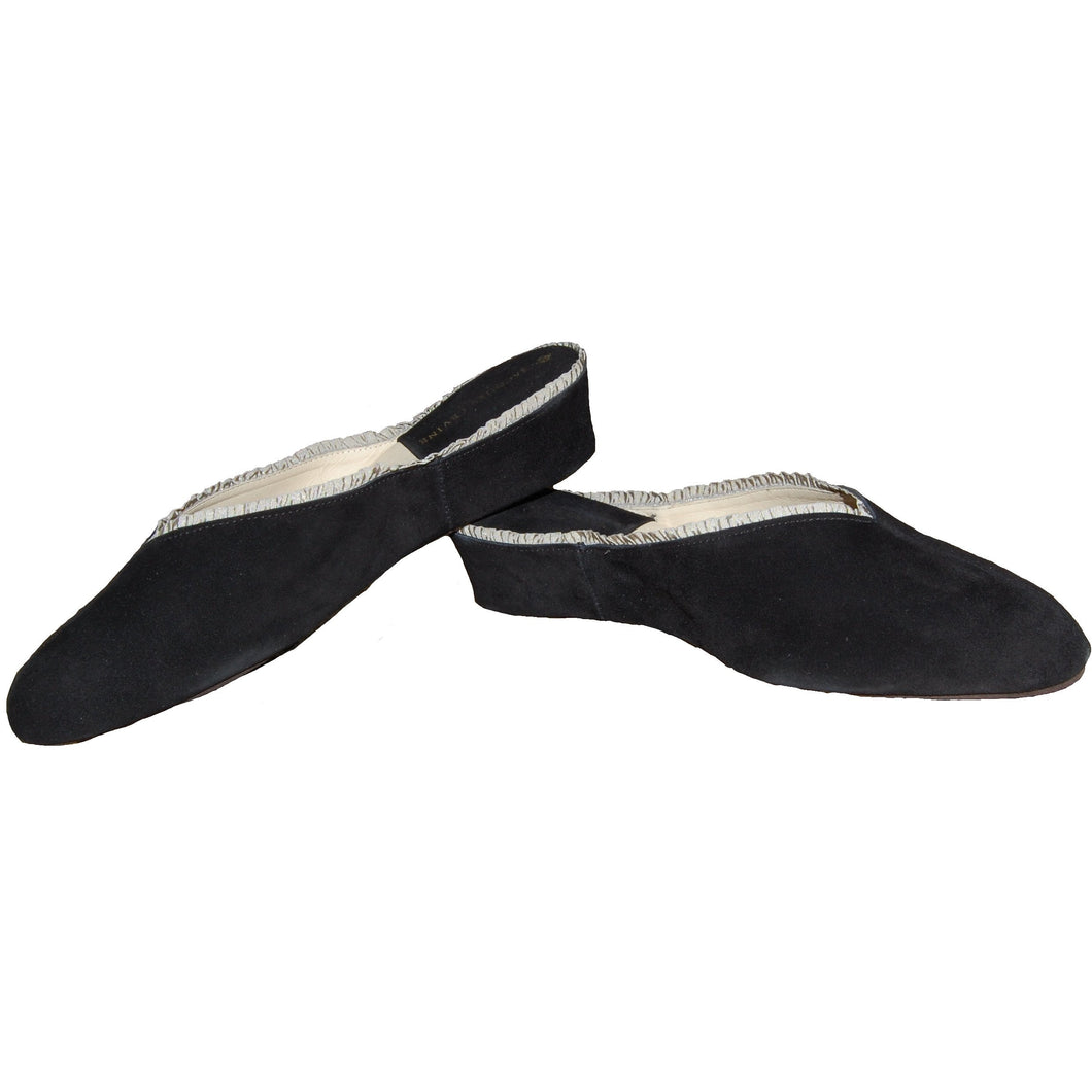BLACK SUEDE SLIPPER