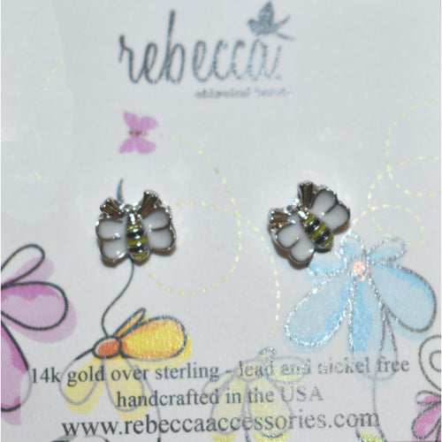 BUMBLE BEE ENAMEL POST EARRING