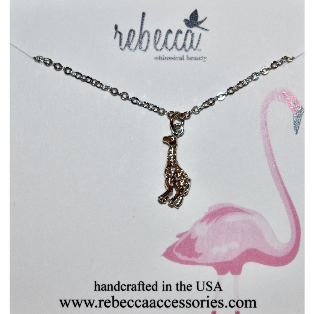 GIRAFFE WALKIN NECKLACE-SILVER
