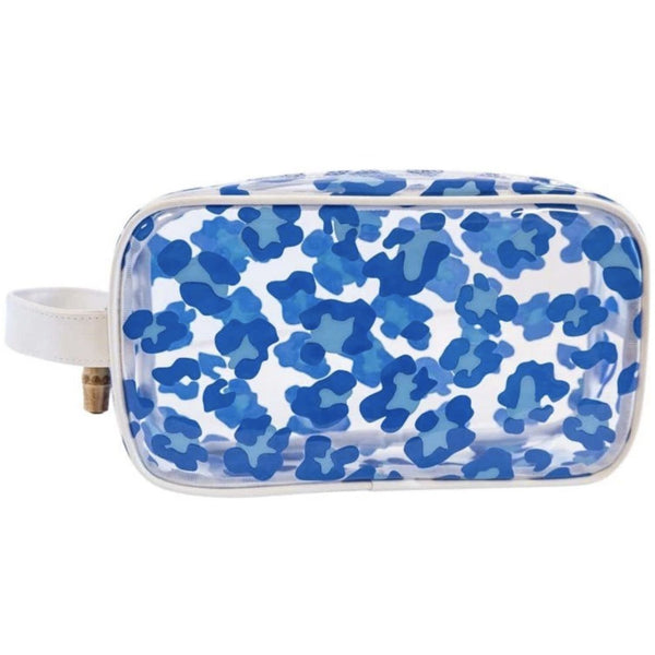 CLEAR BAG BLUE LEOPARD