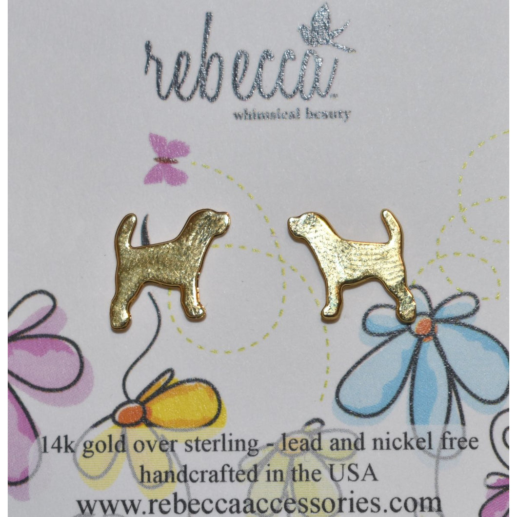 HOUND POST EARRINGS- GOLD