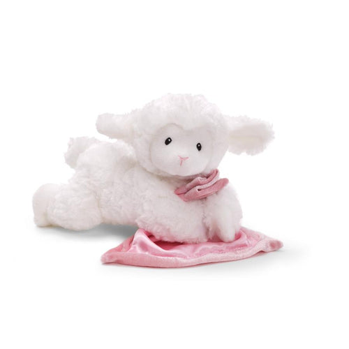 LENA LAMB WITH PINK LOVEY