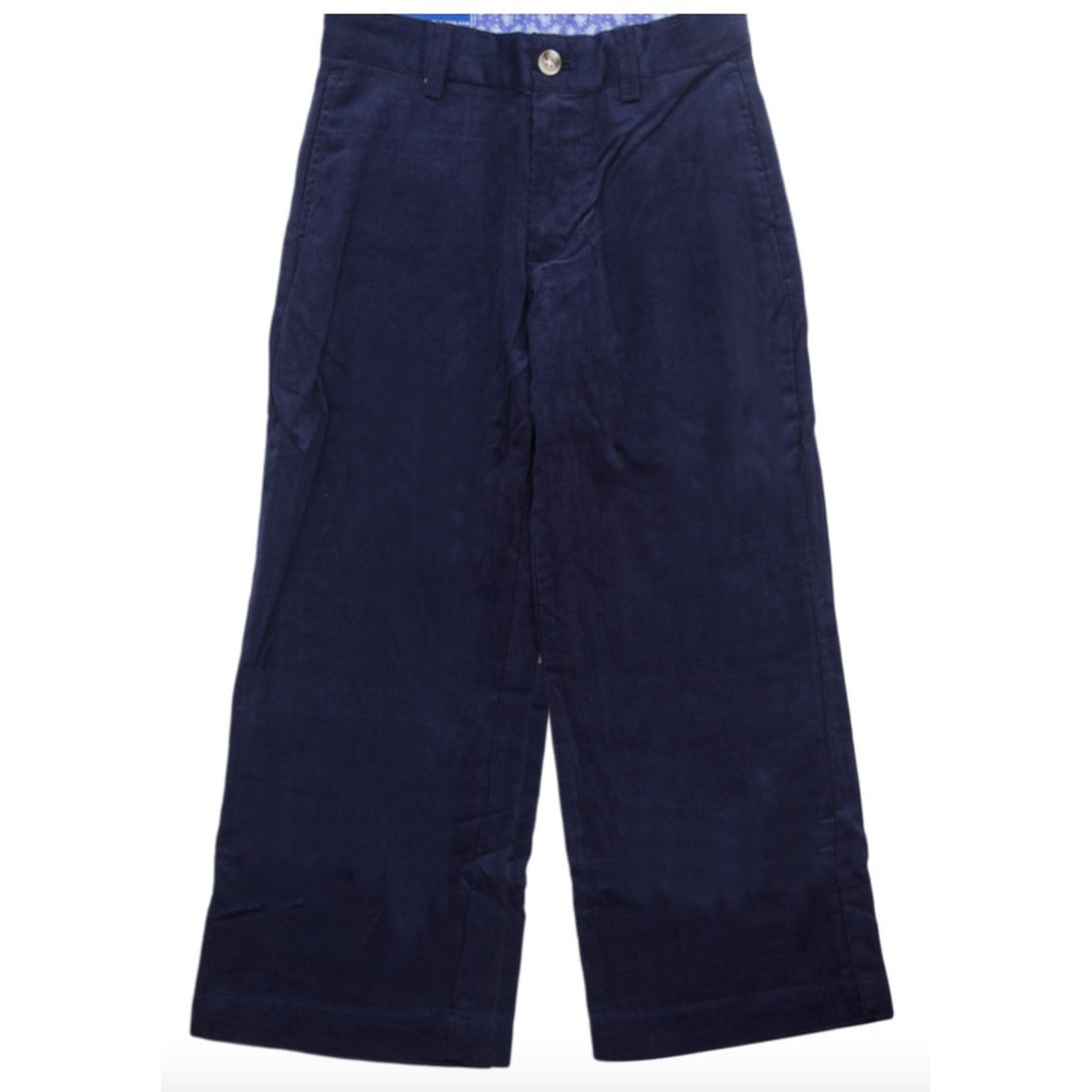 NAVY CORD CHAMP PANT - sizes 8-12