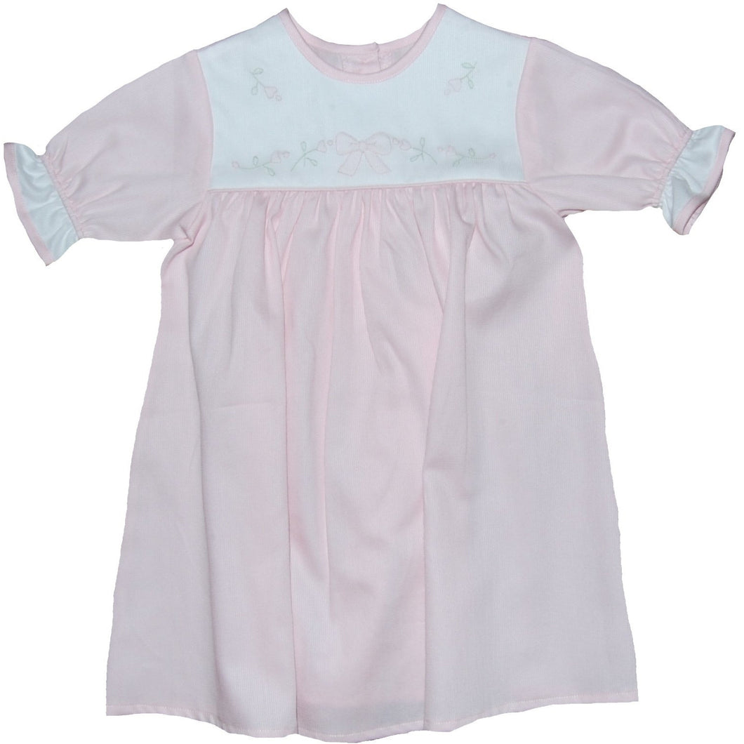 PIQUE DAYGOWN PINK BOW