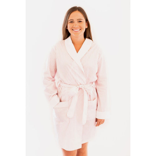 100% COTTON STRIPE ROBE