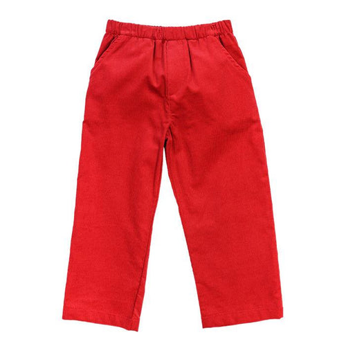 RED CORD PANTS ELASTIC WAIST