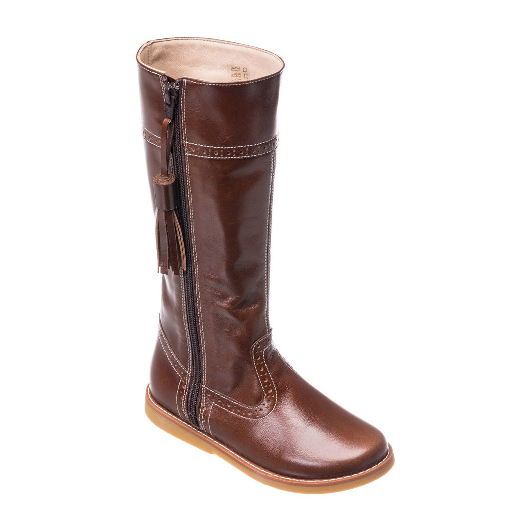 BROWN RIDING BOOT