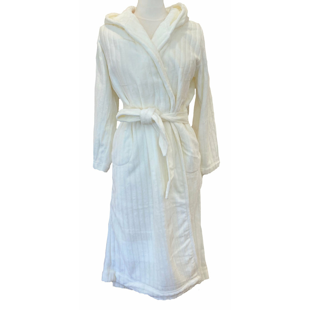 HOODED TERRY ROBE PLAIN