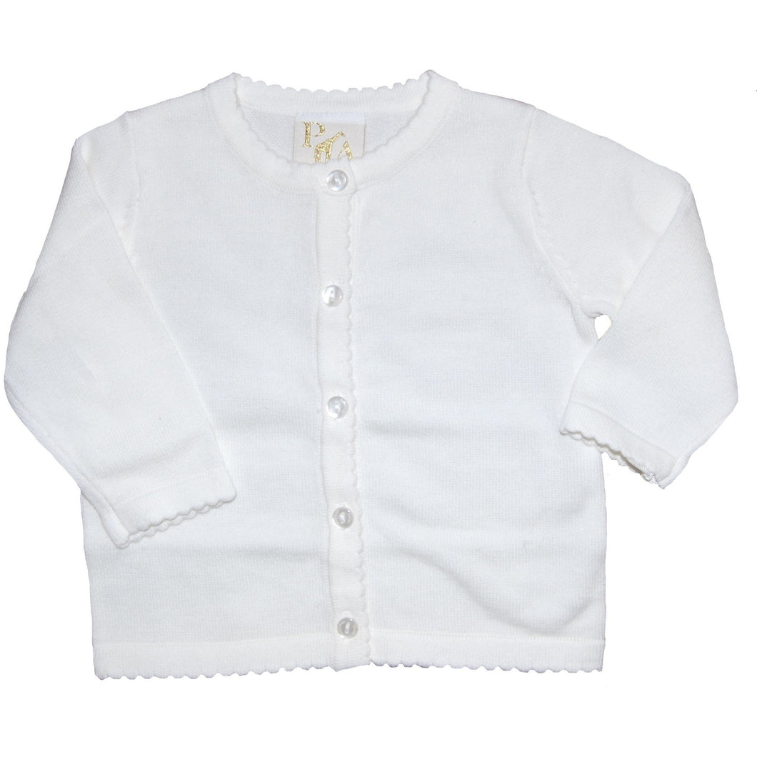 SCALLOP EDGE CARDIGAN - sizes 2T-4T