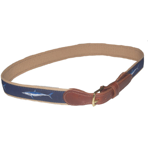 COTTON WEB BELT WITH RIBBON