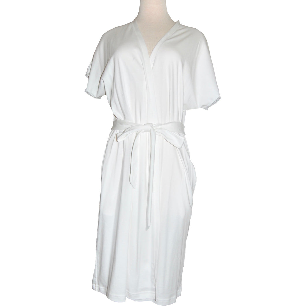 BUTTERKNIT SHORT SLEEVE ROBE WITH LACE