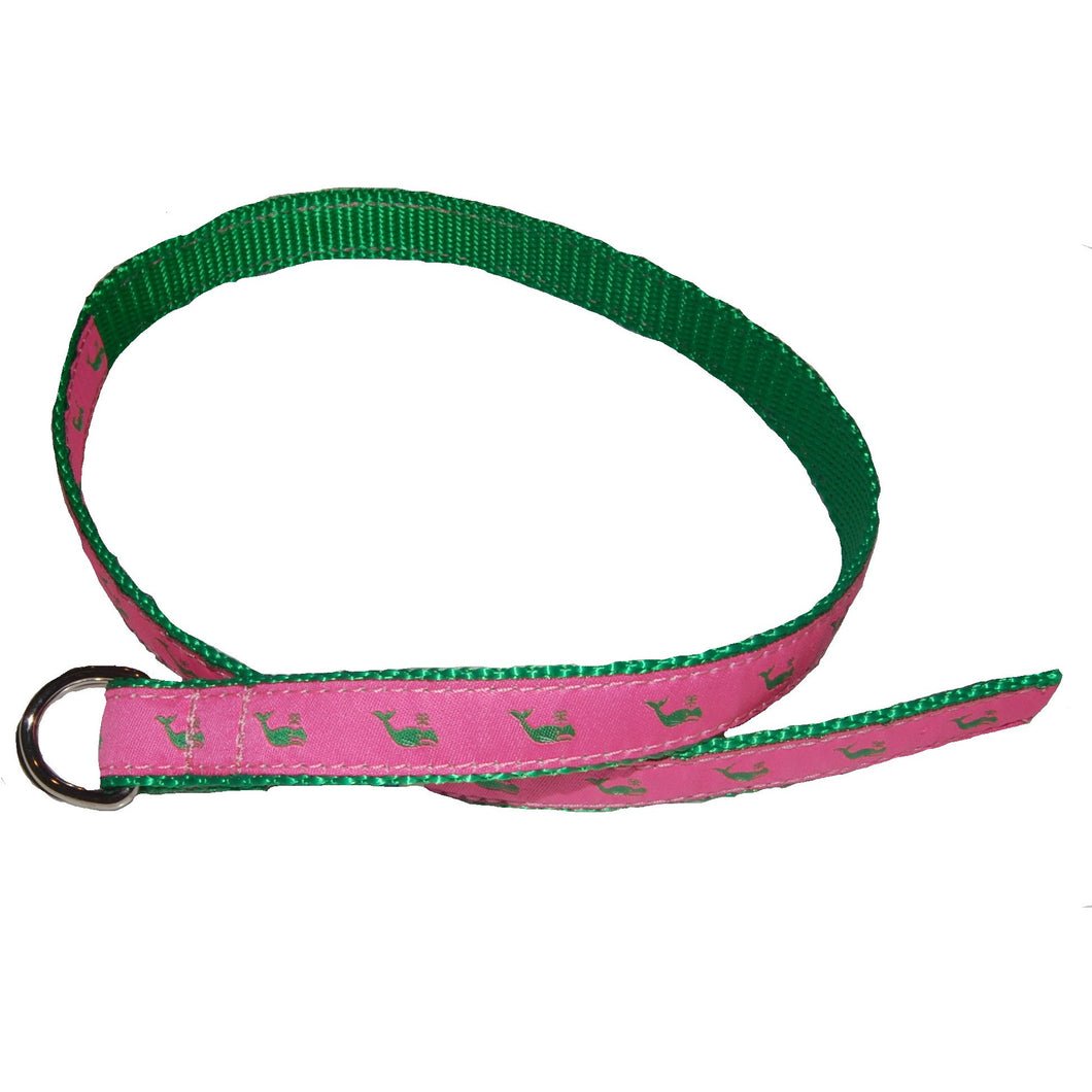 D RING BELT WITH RIBBON