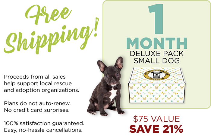 1 Month Only - Deluxe Pack - Small Dog