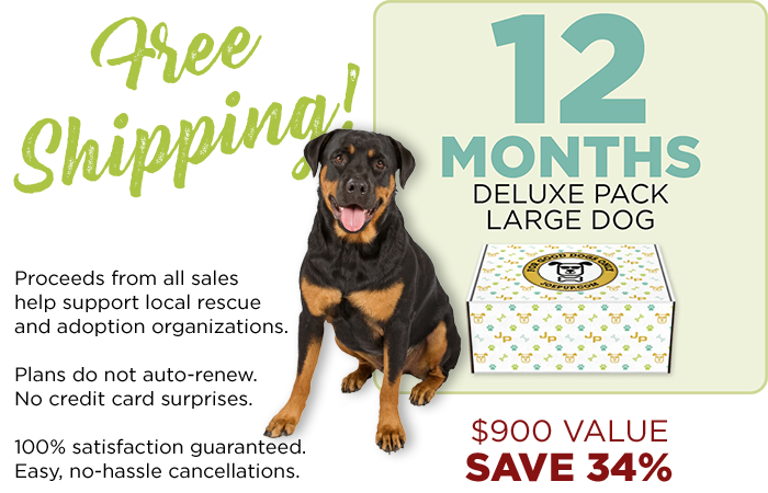 12 Month Plan - Deluxe Pack - Large Dog