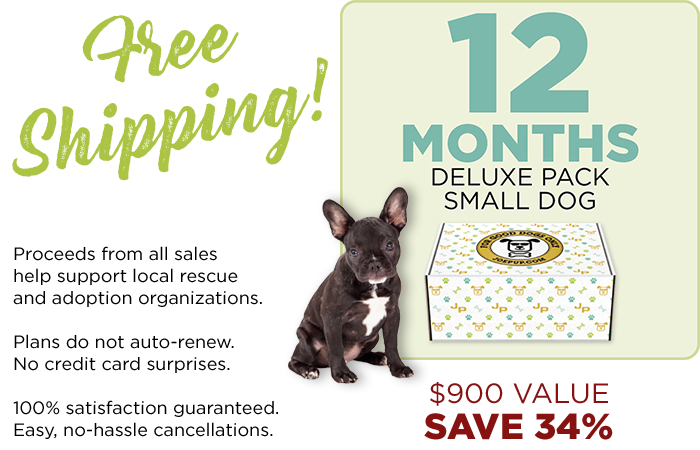 12 Month Plan - Deluxe Pack - Small Dog