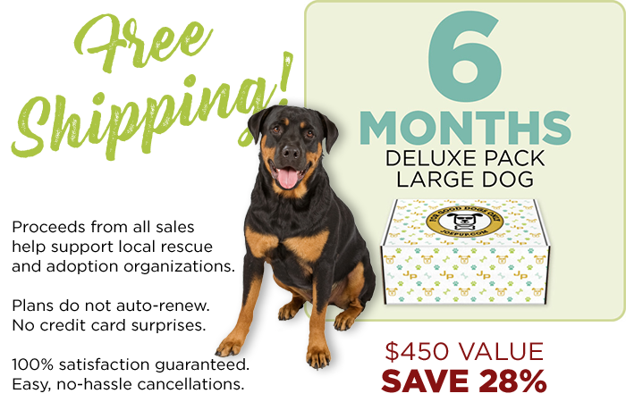 6 Month Plan - Deluxe Pack - Large Dog
