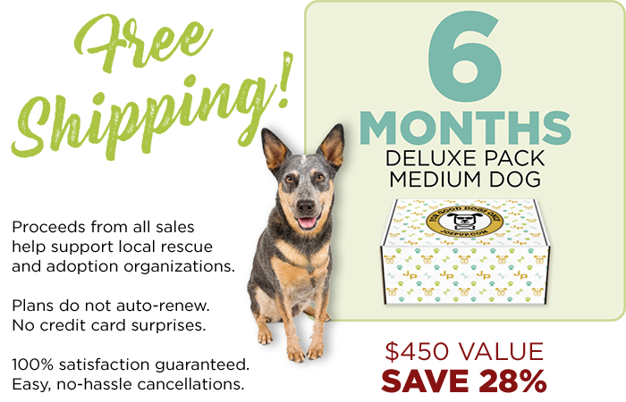 6 Month Plan - Deluxe Pack - Medium Dog