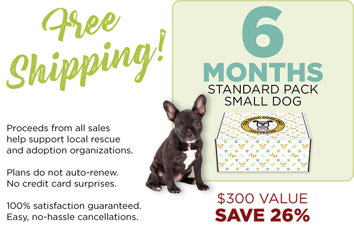 6 Month Plan - Standard Pack - Small Dog