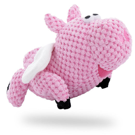 goDog Checkers Flying Pig Plush Toy