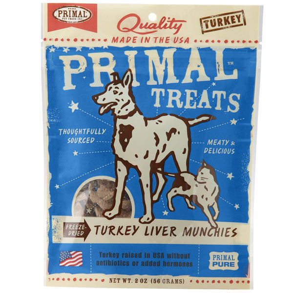 Primal Turkey Liver Munchies Freeze-Dried Treats