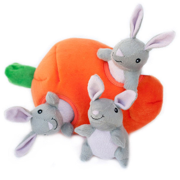 Zippy Paws Burrow Bunny and Carrot