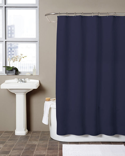 Hermosa Collection Waffle Fabric Shower Curtain 72 X Navy Blue