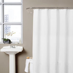 Hermosa Collection Waffle Fabric Shower Curtain (72 x 72, White)