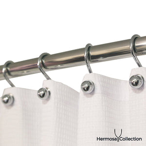 Luxury Hotel Quality Shower Curtain Hooks Silver Chrome Finish Rings (12-pk.)