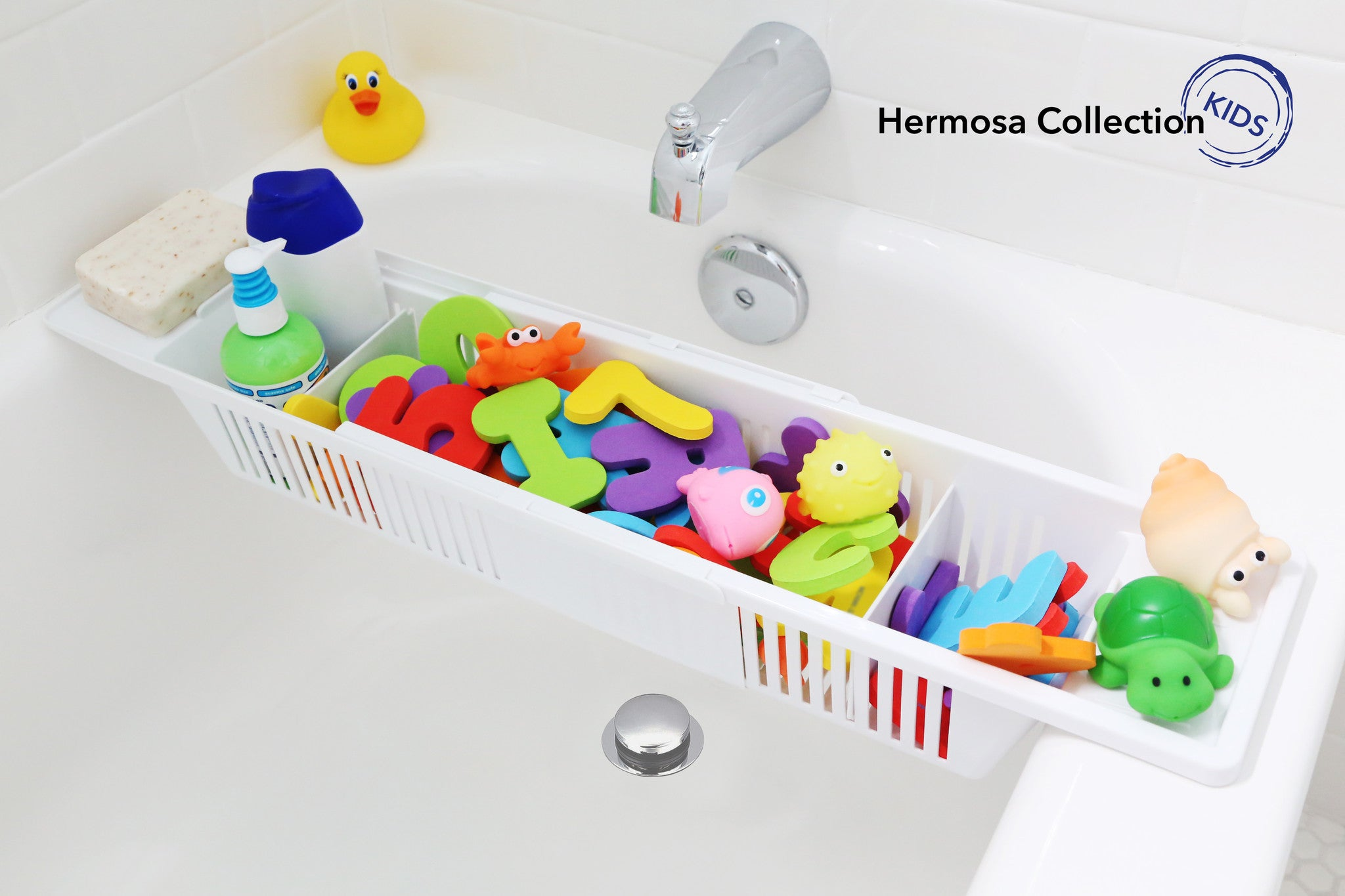 Kids Products Bath Toy Organizer Bathtub Storage Basket