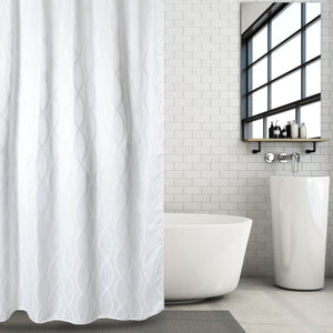 Luxury Jacquard Fabric Shower Curtain