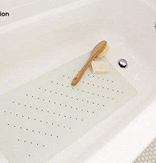 "ANTI-BACTERIAL, BPA FREE & LATEX ALLERGEN FREE Rubber Bath Mat No.1 Rated bathtub mat for baby protection - 30"" L x 14"" W"