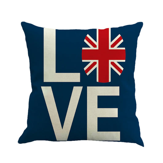 Love Britain Decorative Pillowcase 18 x 18 In