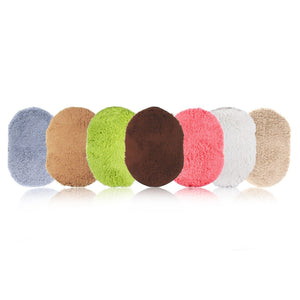 Bathroom Carpets Absorbent Soft Memory Foam Doormat Floor Rugs Oval Non-slip Bath Mats 40 x 60cm