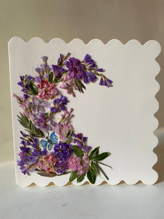 HAND MADE DRIED FLOWER CARDS