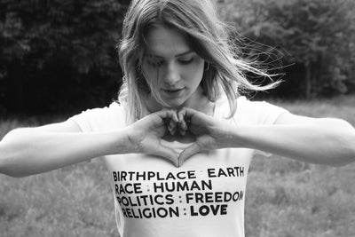 """BIRTHPLACE & LOVE"" CHARITY T SHIRT."