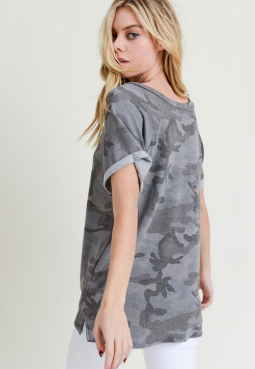 Camo Slouch Top