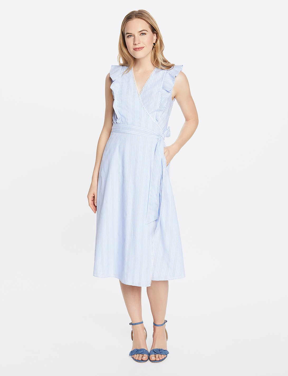 Flutter Wrap Midi Dress