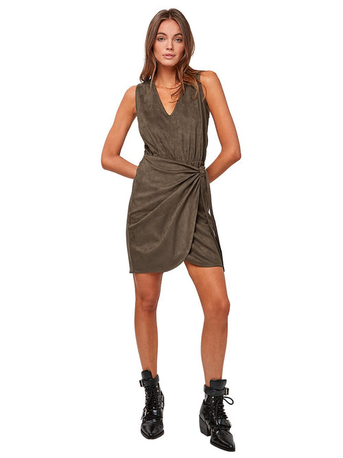 Front Line Vegan Suede Dress