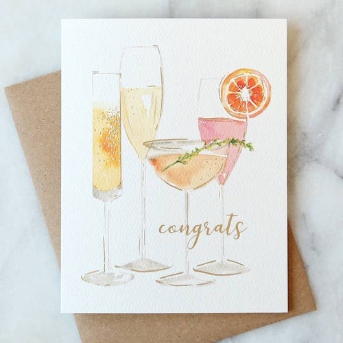 Bubbly Congrats Card