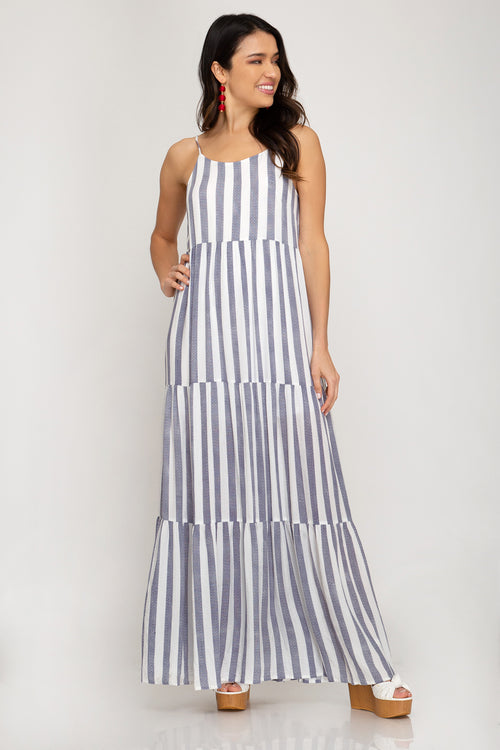 Beachside Striped Maxi