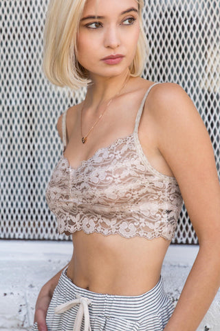 Lace Back Bandeau