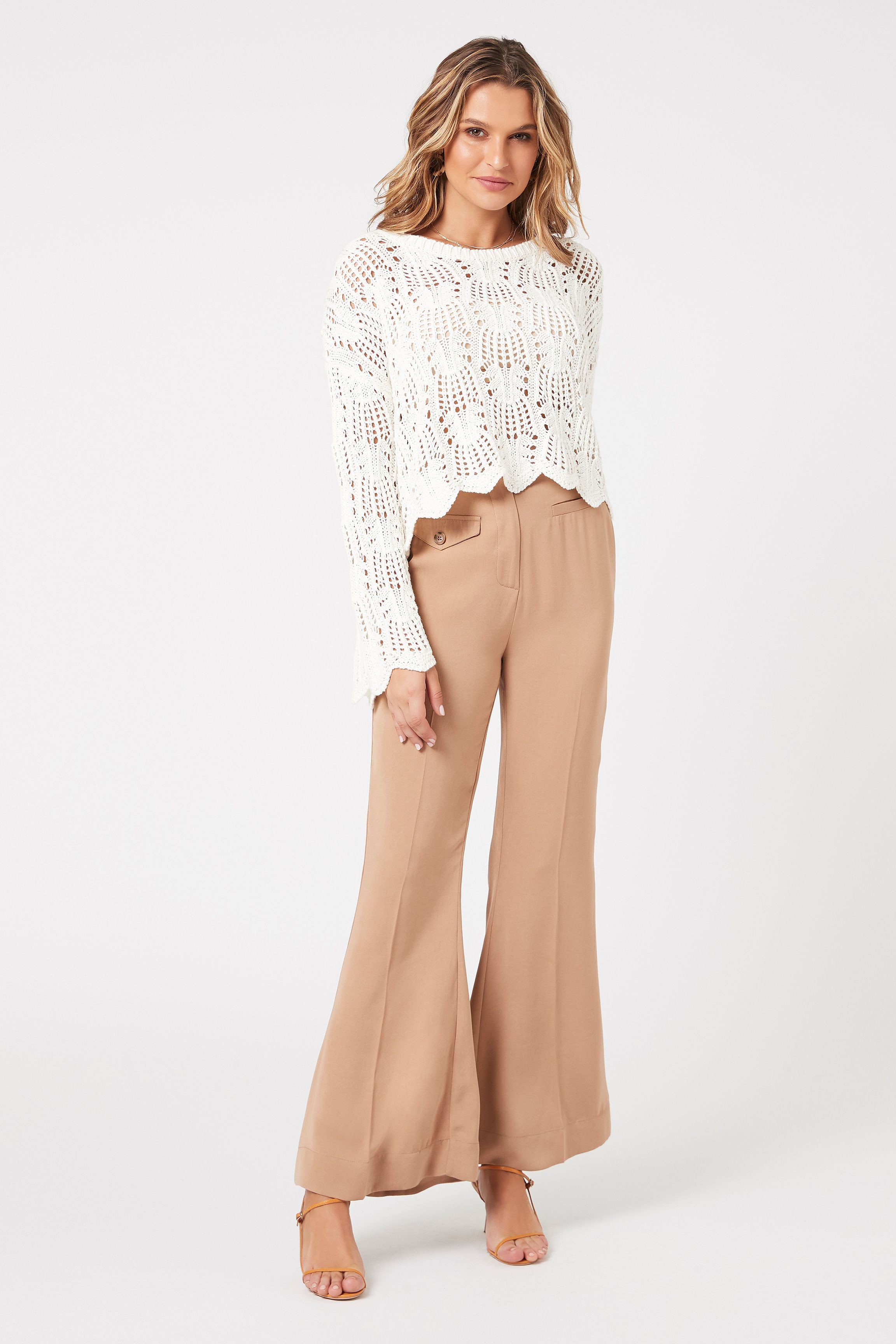Wynn Scallop Knit Sweater