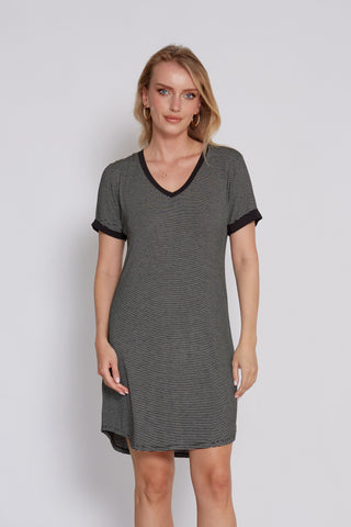 Lipstick Safari Vegan Suede Shift Dress