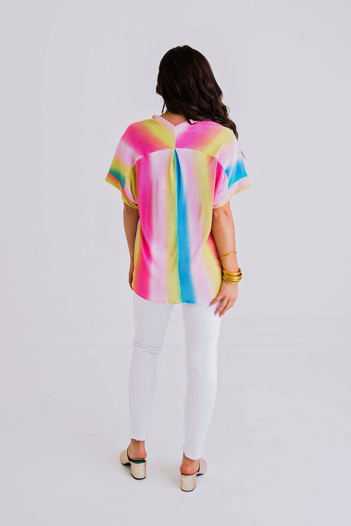 Rainbow Dreams V-Neck Top