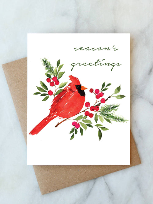 Season's Greetings Cardinal Card