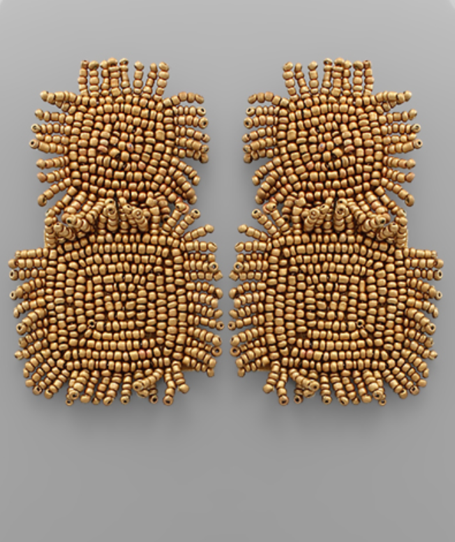 Double Square Fringe Earrings