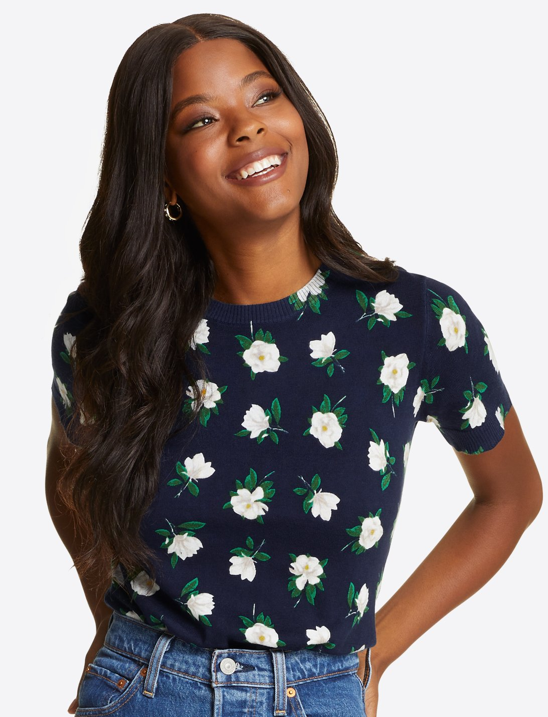 Short Sleeve Magnolia Sweater Top