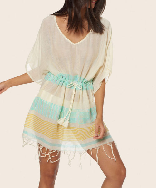 Striped Short Cover Up