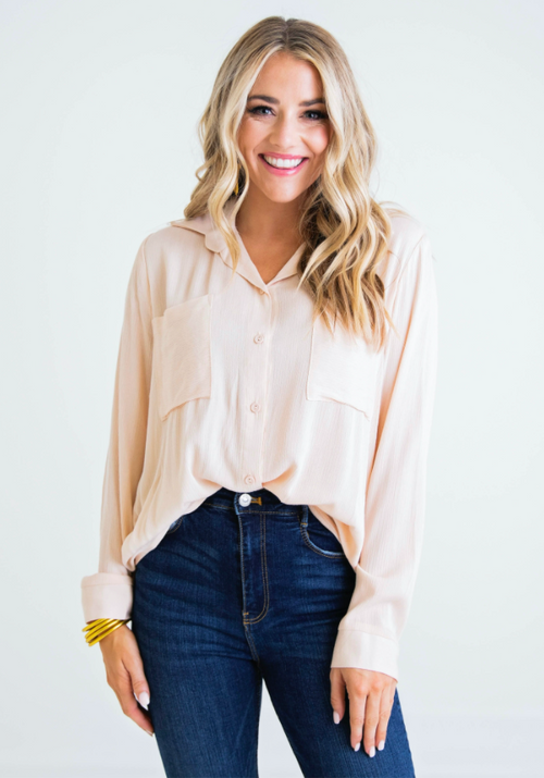 Tula Button Front Top